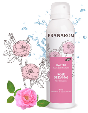 Hydrolat aromatique de rose de damas